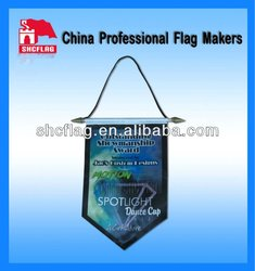Any custom design football and soccer pennant
