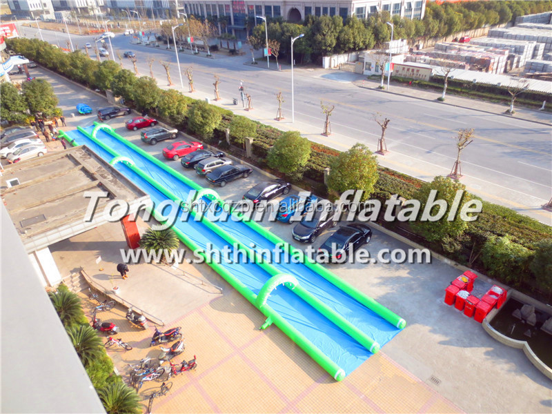1000 feets Inflatable water slide, slide the city , slip N water slide