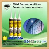 280ml Construction Silicone Sealant, China qualified silicone manufacturer