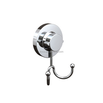 Powerful Vacuum Suction Cup Double Hooks Stainless Steel Hook Clothes Hanger