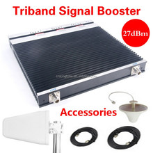 2G 3G 4G mobile signa booster GSM 900 1800 2100 tri band signal repeater