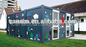 20ft high shipping container house bamboo house building