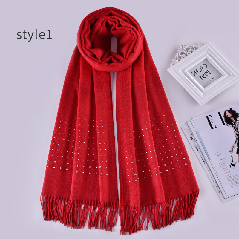 Newest design fashionable winter shawl for women 2017 imitate wool cashmere scarf