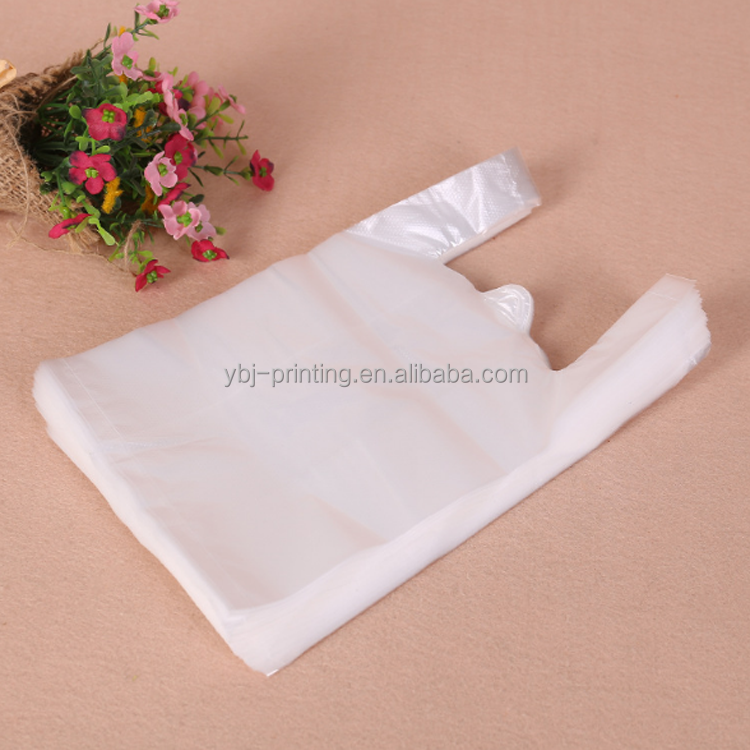 stock 40*60*15cm transparent plastic handle <strong>bag</strong> for food/surpermarket packaging