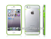 Two Tone rubber bumper cover case for new apple iphone 5