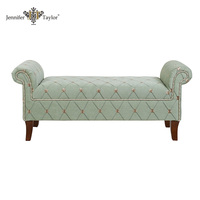 Jennifer Taylor roll arm antique bench