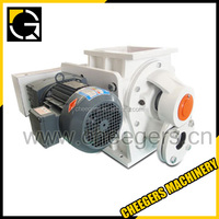 Rotary airlock feeder with air compressor unloader valve
