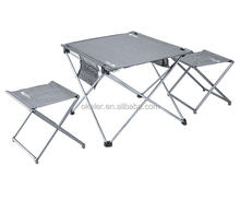 High quality Aluminum Alloy Outdoor Camping Picnic Folding Table and stools