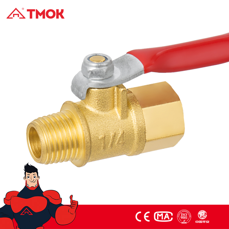 TMOK Premium Gas Ball Valve, Female Thread x Female Thread, Brass, 1/4-Inch