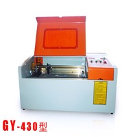 Hot sale cost performance for handcraft DIY GY430 4030 40W CO2 wood pen laser engraving machine