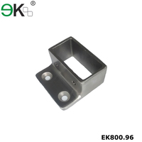 Stainless steel wall mount open flange rectangular slotted tubing flange