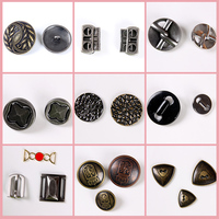 Nickel-Free Eco-Friendly Flatback 4 holes black clothing apparel metal button