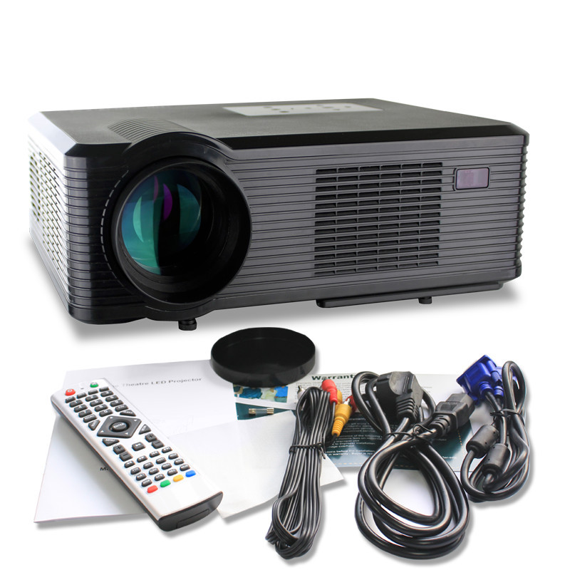 cheerlux manufacture factory price CL740 / CL740D 2400 lumens brightness portable projector with 2 USB 2 HDMI TV VGA