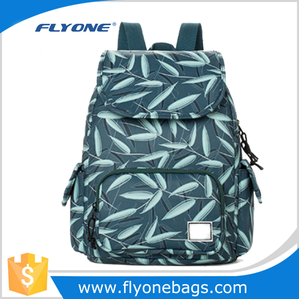High quality green bamboo custom printing bag