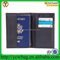 Embassy Black Leather Passport Holder/Wallet