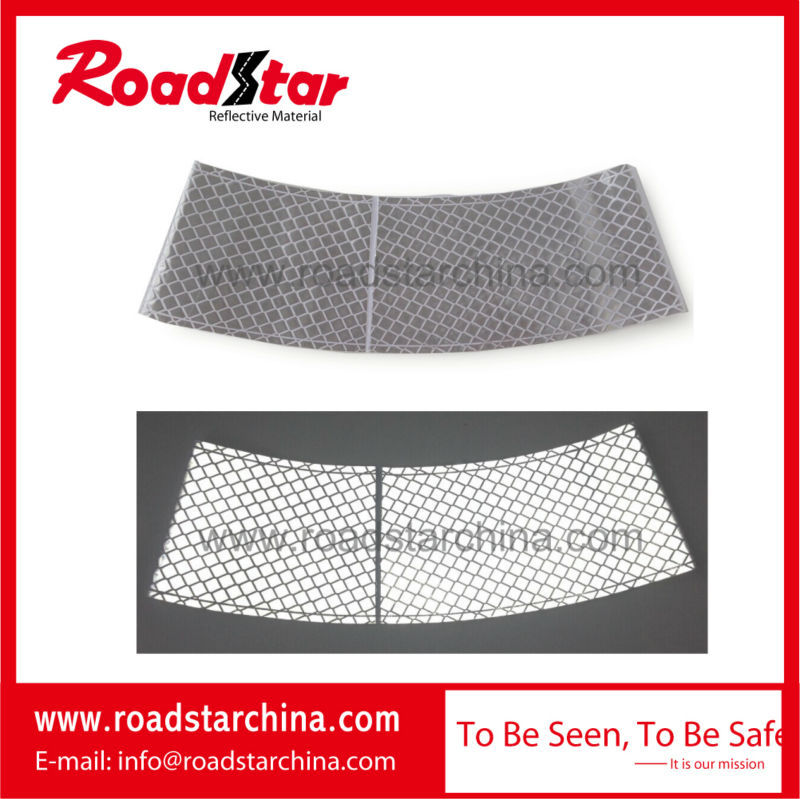 Silver reflective traffic cone sleeve for safety