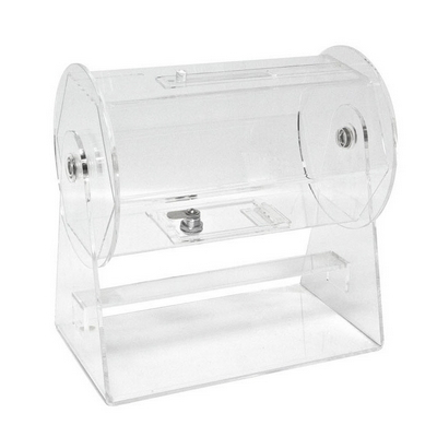 Acrylic Raffle Drum with Lock and Key
