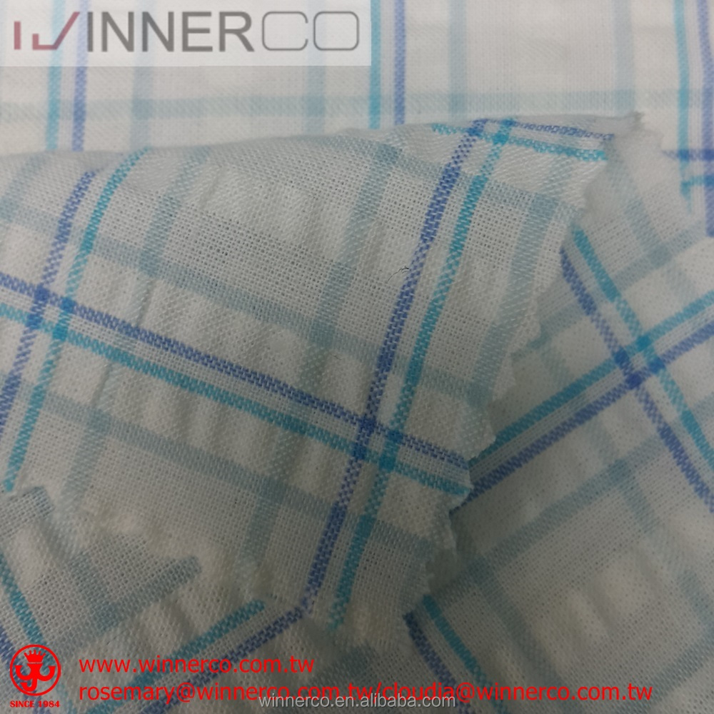 Hot new arrival 100% Cotton Seersucker fabric for casual wear