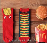 new 2014 cotton fries socks Hosiery for Hamburg creative Restore couples socks wholesale