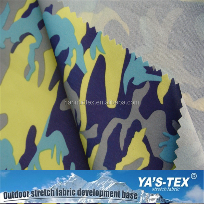 Shaoxing custom printed spandex anti UV fabric flame retardant fabric yard for work wear, jacket