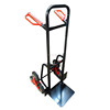 100kg load capacity cheap steel six wheel stair-climbing folding hand trolley