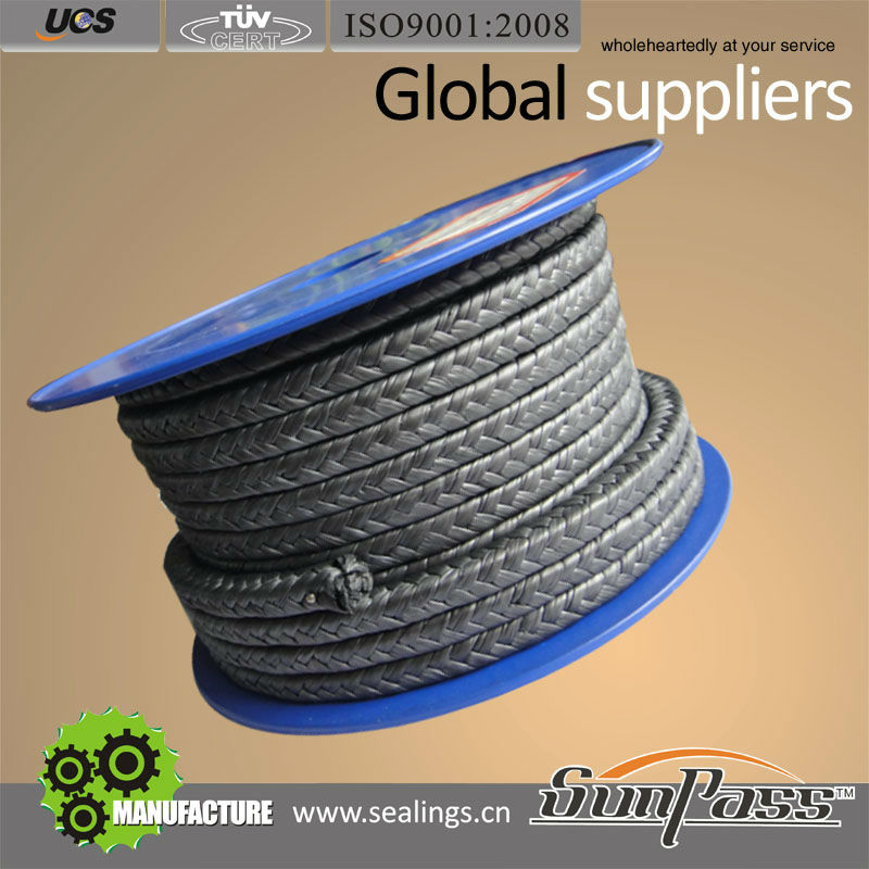 Shaft Gland Packing Rope PTFE Graphite Gland Packing