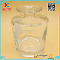 hot sale new products thick bottom wholesale reed diffuser bottles with glass ball corks