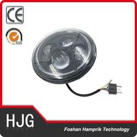 "7"" Round LED Headlight /DRL/Car Styling LED Light 75W Hi/Lo Beam motorcycle led driving light Headlight for Harley"