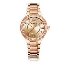 Curren Luxury Pretty Watches For Ladies, Wristwatch With Mini Diamonds 9004