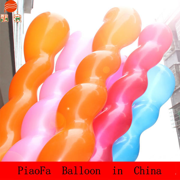 China Manufacturer Spiral Colorful Latex Screw Balloon,Pastel Royal Blue balloons