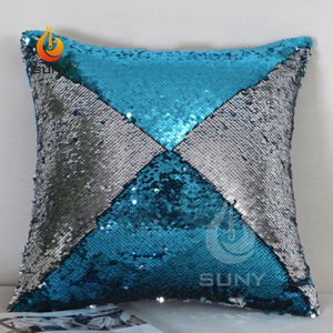 DIY Reversible Decoration Magic Gift Sequin Pillow Cover