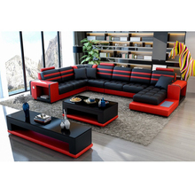 VIVI FURNITURE leather sofa with bluetooth speakers 161