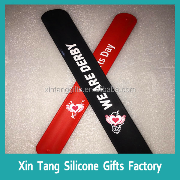 High quality reflective silicone slap wristband/armband/wristband/snap band