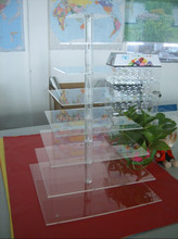 8 tire square 5 mm thickness clear acrylic cupcake stand/riser /holder for sale