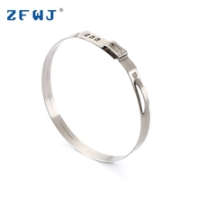 Factory price durable eco friendly single ear wire 304 stainless steel hose clamp