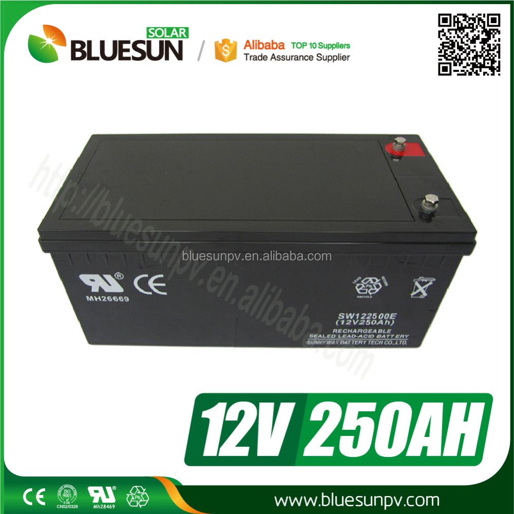 Bluesun hot sale 250ah lead acid battery 18v for solar power storage system