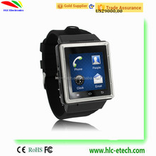 3G GSM Pedometer Android 4.4 Wear Wifi Smart Watch with Smart Phone Functions