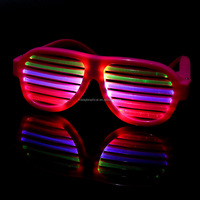 Illuminating voice sound activated LED light shutters glasses for bar KTV concert ,Christmas Halloween novelty gifts,party props