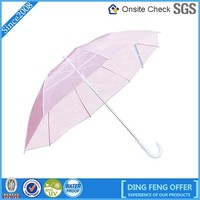 New design Logo Customized Transparent Princess Umbrella