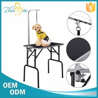 Heavy Duty Folding Portable Dog Grooming Table With Pattern Surface