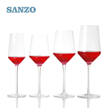 Handmade blown unbreakable crystal italian wine glass for party