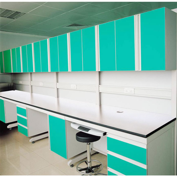 Wall storage cupboard/wall mounted bench/lab wall cupboard