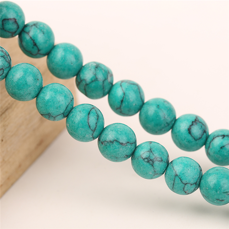 Real Turquoise Jewelry Green Color 4mm-14mm Natural Stone Beads For Jewelry Making