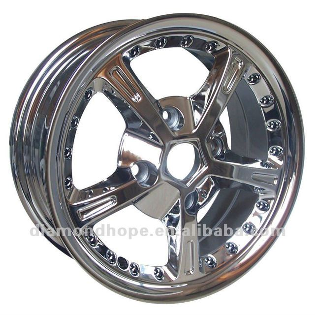 ZW TIV hot sale 20 inch black rims with chrome lip