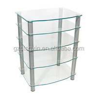 multi-function tv stand furniture glass table for lcd tv(DX-8707)