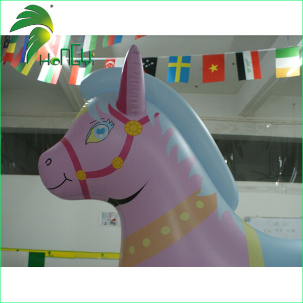 Delicate Colorful Inflatable Horse Toy With 2 m Tall