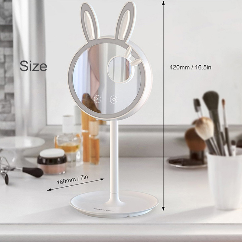 Makeup Mirror with LED Ring Light Fill Light and Desk Lamp