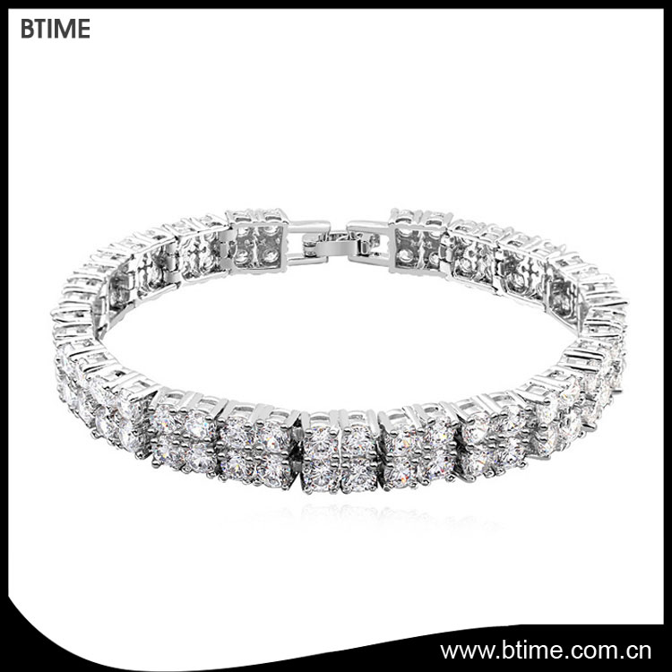 Tennis Cooper bracelet women accessory jewelry with cubic zirconia stone