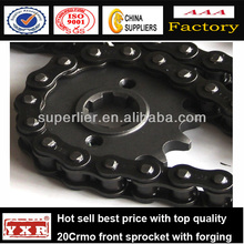 China manufacturer motorcycle spare parts sprockets for sale for CBX250 TWISTER /TITAN/CG-125/NXR125BROS