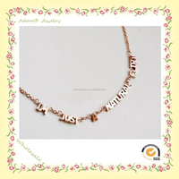 WN150917-6 Yiwu Adore Wholesale Fashion Letter Pendant Necklace, Letter Jewerly, I AM JUST A NATURE FLIRT